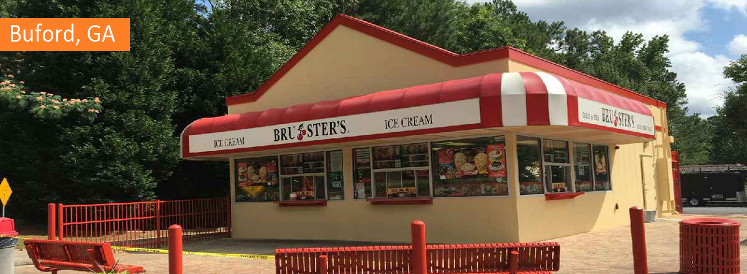brusters buford commercial exterior painting