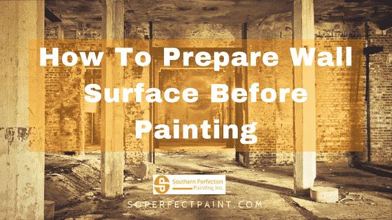 Wall Surface Preparation